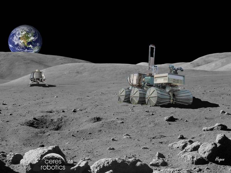 Artist's concept of a Ceres Robotics commercial lunar lander on the Moon. Image credit: Ceres Robotics