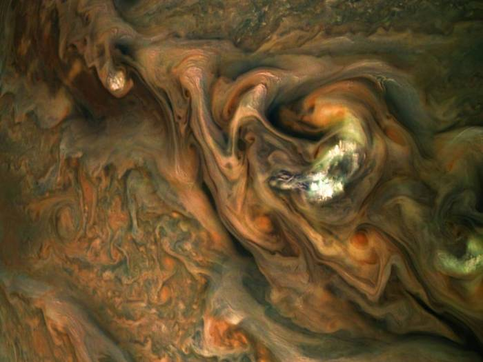 view from NASA's Juno spacecraft