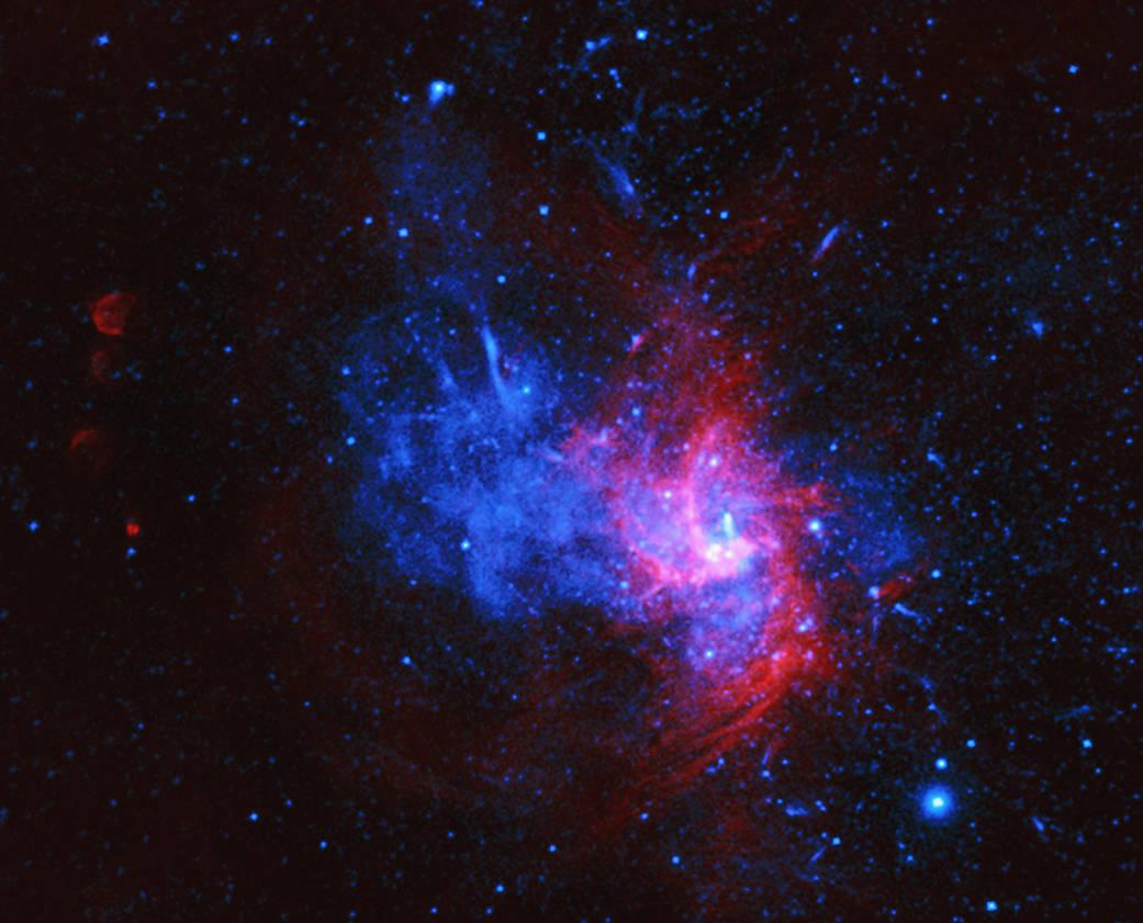 X-ray & Radio Image of Sagittarius A East.