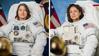 NASA astronauts Christina Koch and Jessica Meir