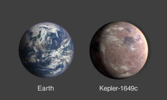 A comparison of Earth and Kepler-1649c, an exoplanet only 1.06 times Earth's radius