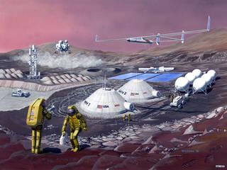 Life on moon or mars.