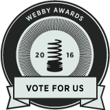 Webby Award Nominee graphic