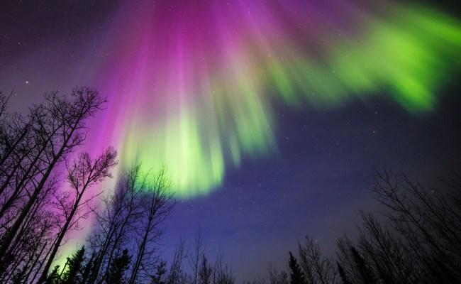 Purple And Green Aurora In Alaska Nasa