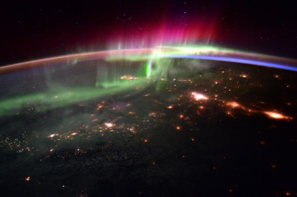 Aurora Borealis From Space NASA