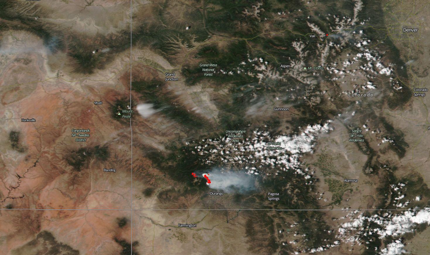 NASAs Aqua Satellite Spots Smoke From Wyoming Badger