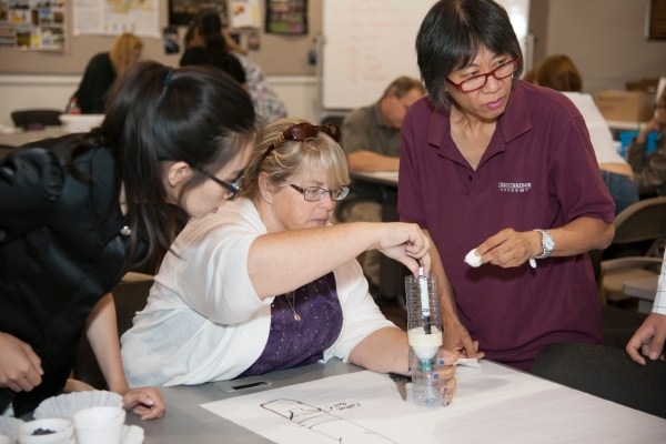 Teachers Make Water Filtration System Earth Science