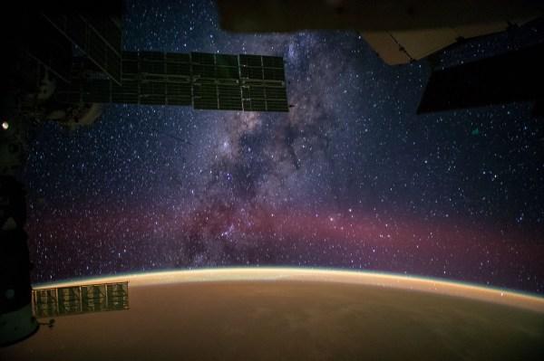 Milky Viewed International Space Station Nasa
