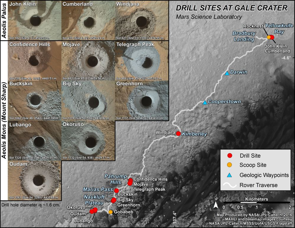 medium resolution of this graphic maps the first 14 sites where nasa s curiosity mars rover collected rock or soil