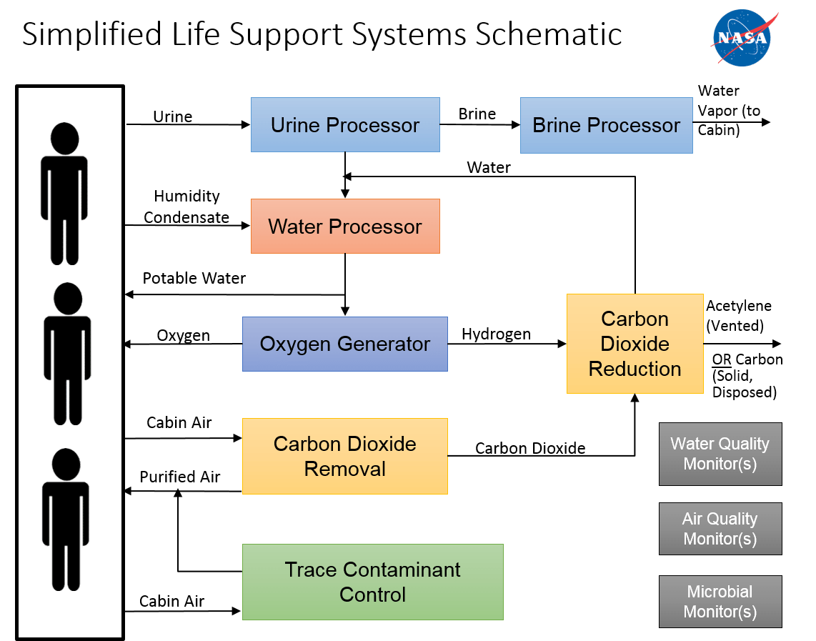hight resolution of life support systems