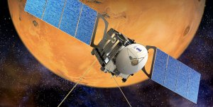 The Mars Express and the case of the large, mysterious cloud of the Martian volcano