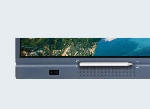 """65"""" Interactive UHD LED panel in Pakistan has a magnetic pen holder & stereo speakers"""