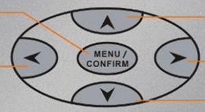 Restmoment central control unit menu Buttons