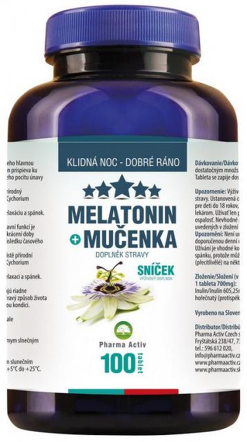 Pharma Activ Melatonín Sníček Mučenka 1 x 100 tbl - DrMax ...