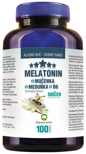 Pharma Activ Melatonín Sníček Mučenka Meduňka B6 tbl ...