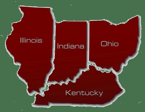Illinois Indiana Kentucky Map