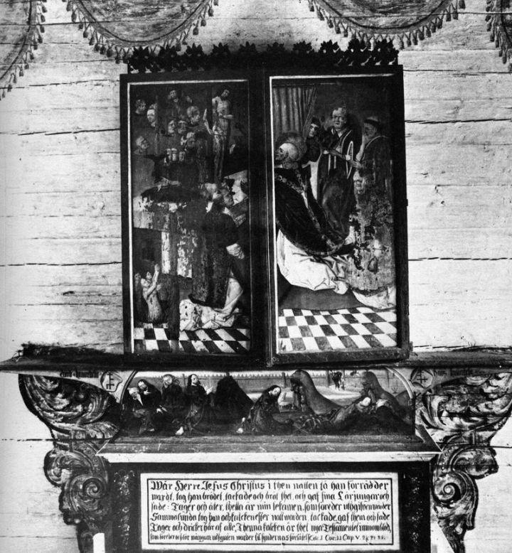 Altarskåpet under långfredagen