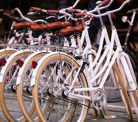 Group of step-through bicycles