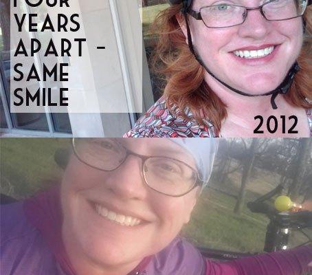 Same smile, four years apart.