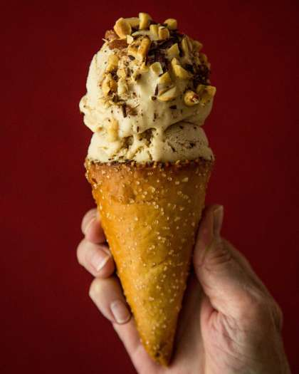 Peanut Butter and Bourbon Frozen Custard