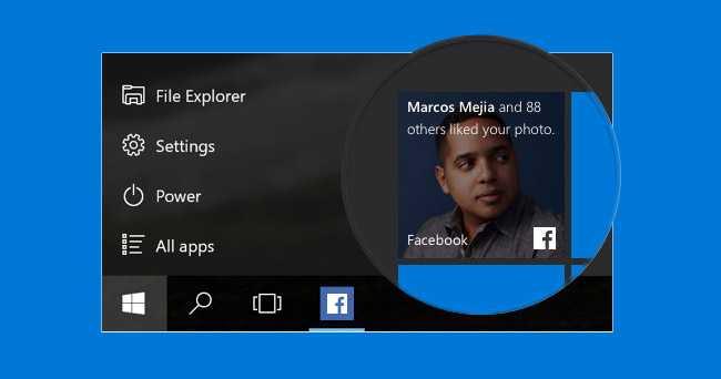 Windows 10 Facebook Apps