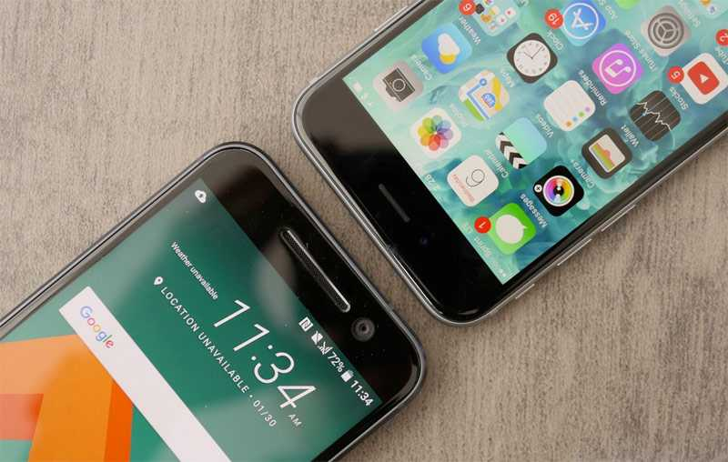 HTC 10 vs. iPhone 6S
