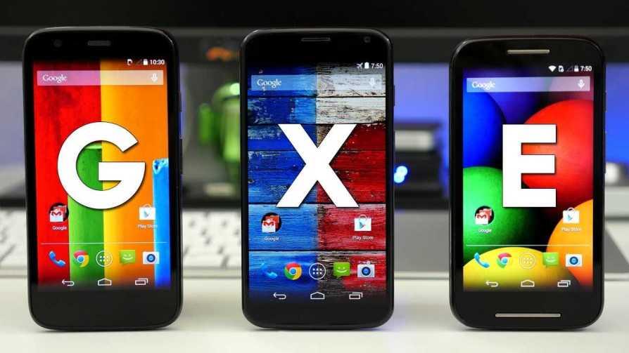 Moto E, Moto G and Moto X