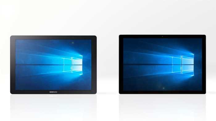 Microsoft Surface Pro 4 and Samsung Galaxy TabPro S
