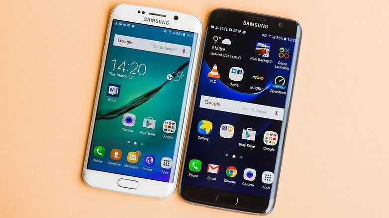 Samsung Galaxy S7 Edge vs Galaxy S6 Edge