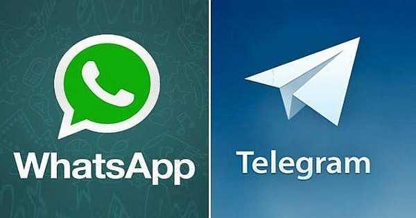 WhatsApp and Telegram