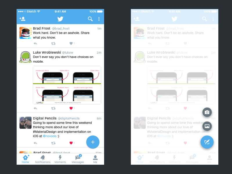 Twitter Redesigns Its Android App on the Footsteps of Material