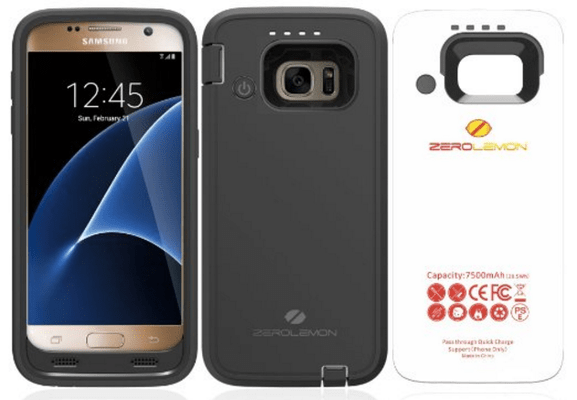 Galaxy S7 ZeroLemon ZeroShock Rugged Extended Battery Case