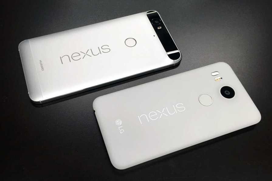 Nexus 6P, Nexus 5X and Nexus 2016
