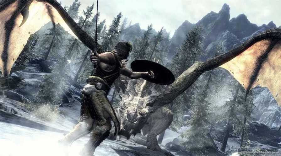 Skyrim Xbox One Backward Compatibility Dragon