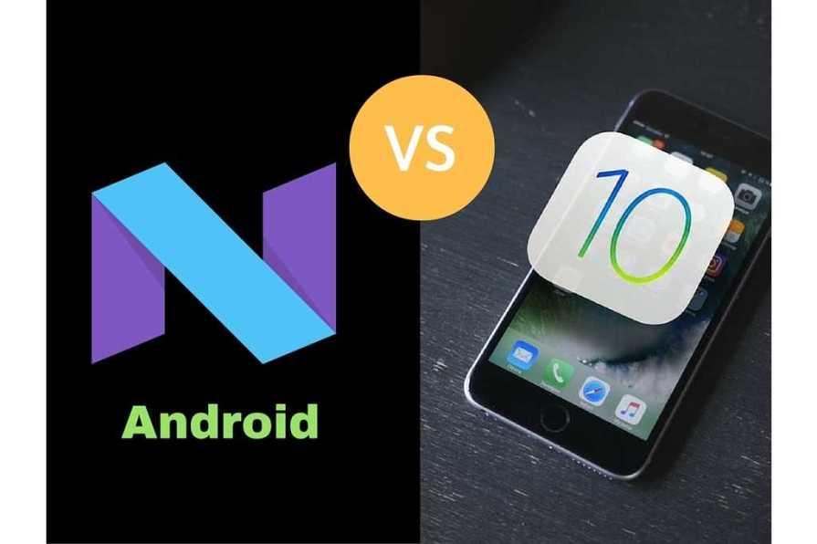 Android 7.0 Nougat vs iOS 10