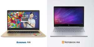 Xiaomi Mi Notebook Air, Lenovo Air 13 Pro