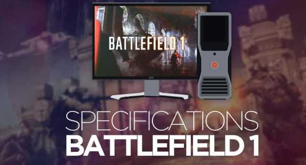 battlefield 1 pc specifications