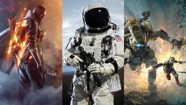 Battlefield 1, Titanfall 2, Infinite Warfare