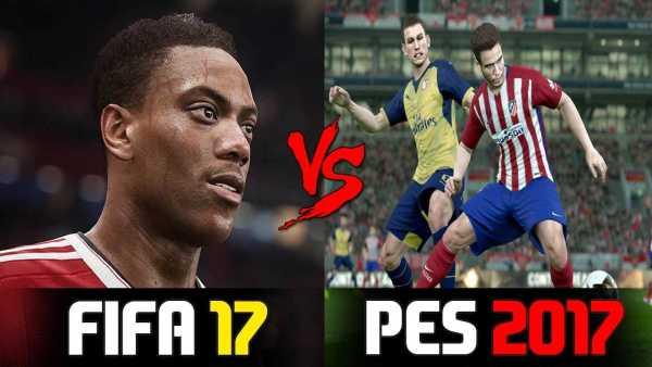 PES 2017 vs FIFA 17