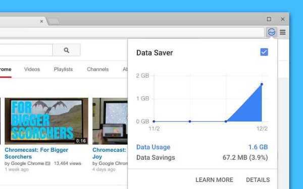 Google Chrome Data Saver