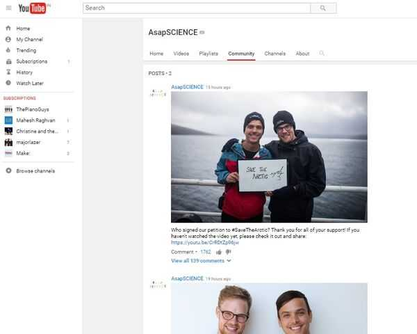 YouTube Community