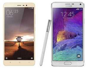 Samsung Galaxy Note 4 vs Xiaomi Redmi Note 3
