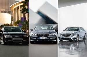 BMW Audi and Mercedes Benz