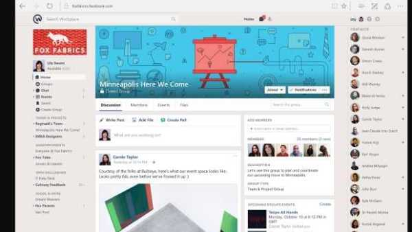 Facebook Workplace Native Features