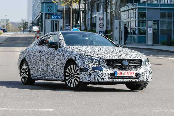 Mercedes Benz E-Class Coupe Spotted