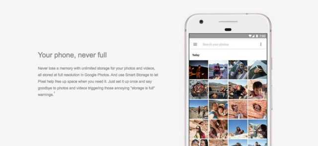 Pixel Unlimited Storage For Photos and Videos