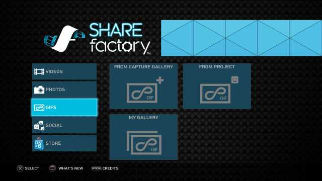 PS4 Sharefactory version 2.0