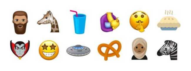 unicode 10 emojis