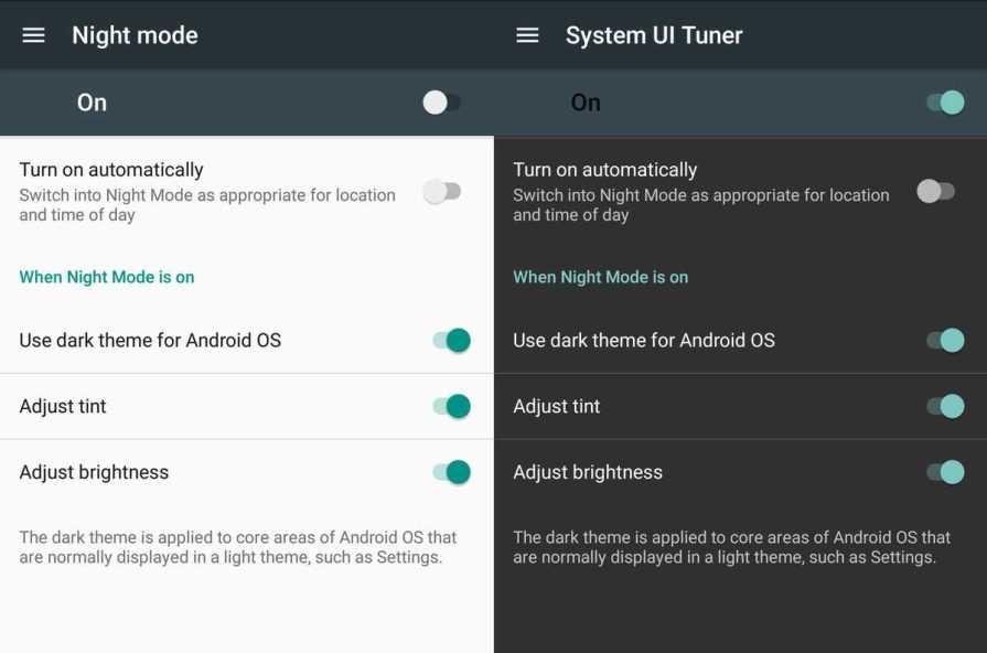 Google Nexus 6P Night Mode