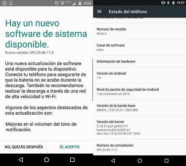 Motorola Moto Z Update